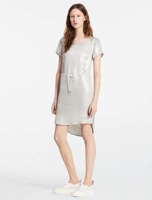 Calvin Klein material mix short sleeve dress