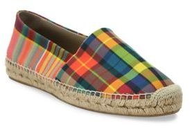 Paul Smith Paul Smith Plaid Canvas Slip-On Espadrille Sneakers