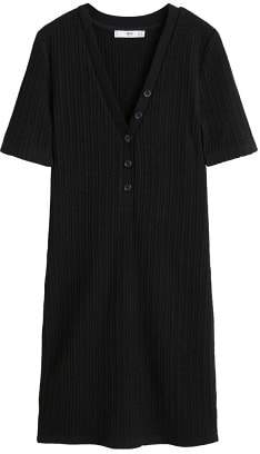 MANGO Tailored ribbed dress