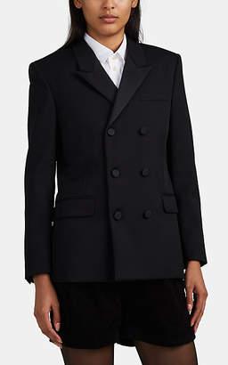 Saint Laurent Women's Virgin Wool Tuxedo Jacket - Black