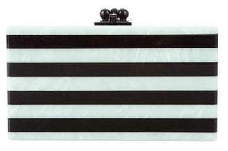 Edie Parker Striped Jean Clutch