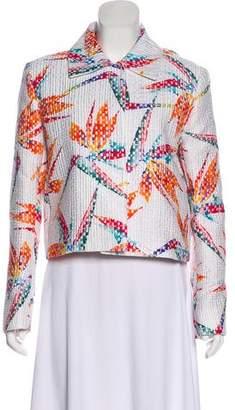 Fendi Patterned Long Sleeve Jacket