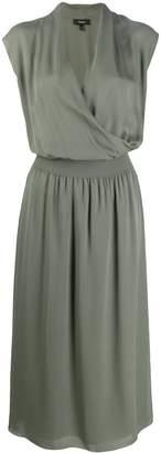 Theory draped combo dress