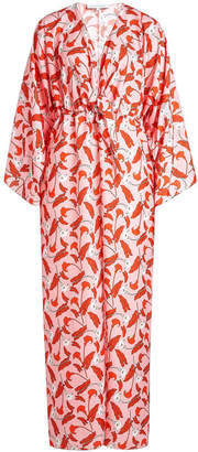 Borgo de Nor Tie Front Printed Dress
