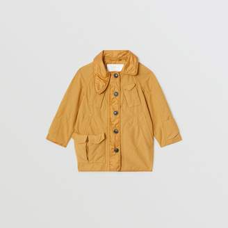 Burberry Military Quilted Cotton Coat , Size: 3Y, Yellow