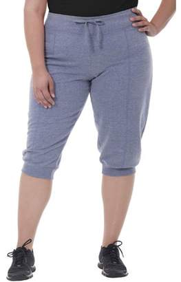 Fruit of the Loom Fit for Me by Women's Plus Size Seamed Capri Jogger
