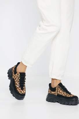 80c8662c97e43b Nasty Gal Better Move Fast Leopard Sneaker