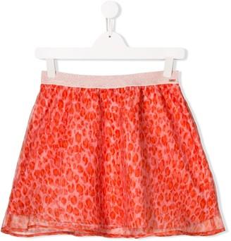 Kenzo TEEN leopard print short skirt