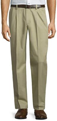 ST. JOHN'S BAY Stretch Iron Free Expandable Waist Pleat Pant