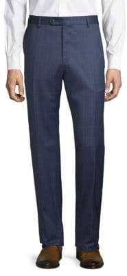 Lubiam Windowpane Wool Trousers