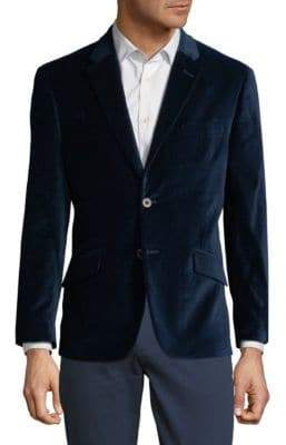 Tommy Hilfiger Pin-Dot Velvet Dress Jacket