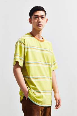 Urban Outfitters Dillon Open Variegated Lime Stripe Tee