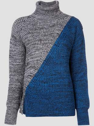 Derek Lam 10 Crosby Bi-Color Turtleneck Sweater
