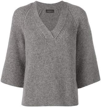 Roberto Collina v-neck ribbed sweater