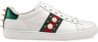 Gucci Ace studded leather sneakers
