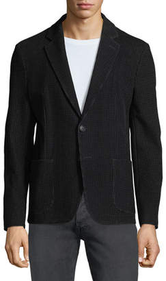 Emporio Armani Men's Soft Flocked Velvet Two-Button Blazer Jacket