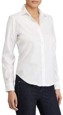 Lauren Ralph Lauren Petite Petite Cotton Button-Down Shirt
