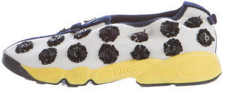 Christian Dior Embellished Fusion Sneakers $645 thestylecure.com