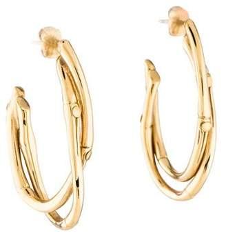 John Hardy 18K Bamboo Hoop Earrings