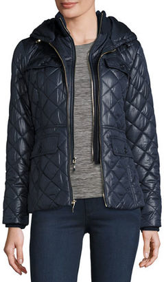 Kate Spade New York Packable Quilted Short Coat W/ Bow Detail $258 thestylecure.com