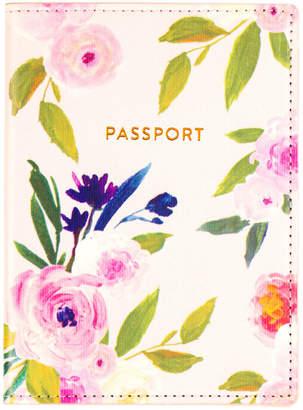 Eccolo Floral Vegan Leather Passport Case