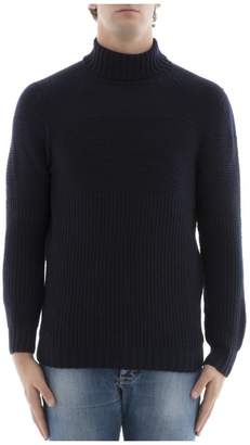 Drumohr Blue Wool Turtleneck
