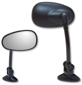 932061BP - Ken Sean Black Universal Long Stem Fairing Mount Mini Oval Mirror
