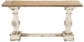 DecMode Decmode Rustic Wood Console Table, Multi Color