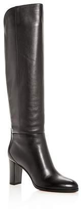 Jimmy Choo Women's Madalie 80 Leather High Block-Heel Boots