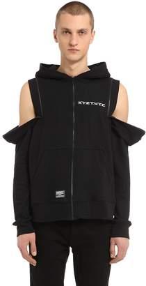 Kokon To Zai Double Zip Hooded Cotton Sweatshirt