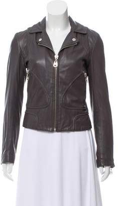 Doma Zip-Up Leather Jacket