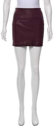 Diane von Furstenberg Kawa Leather Skirt