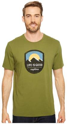 Life is Good Explore Mountains Smooth Tee Men's T Shirt