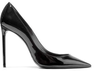 Saint Laurent Zoe Patent-leather Pumps - Black