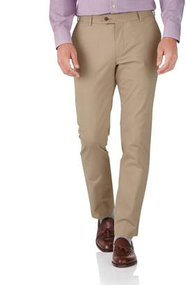Charles Tyrwhitt Tan Slim Fit Stretch Cotton Chino Pants Size W40 L32