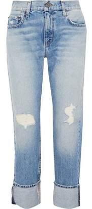 Current/Elliott Distressed Mid-Rise Boyfriend Jeans