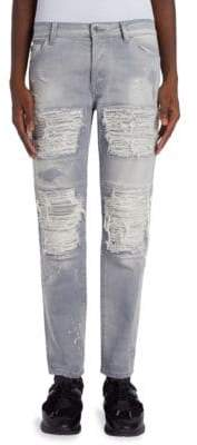 Marcelo Burlon County of Milan Greg Straight-Fit Biker Jeans