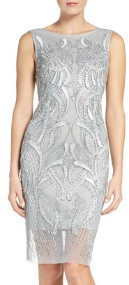 Women's Adrianna Papell Beaded Sheath Dress $299 thestylecure.com