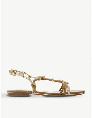 Dune Novaa rope and metallic leather sandals