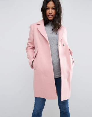 ASOS Slim Coat with Pocket Detail $113 thestylecure.com