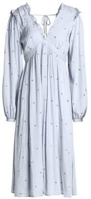 Love Sam Beckman Tie-Back Embroidered Voile Dress