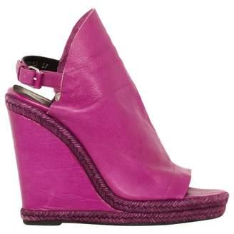 Balenciaga Open Toe Boots In Leather