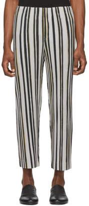 Issey Miyake Homme Plisse Brown Stripe Trousers