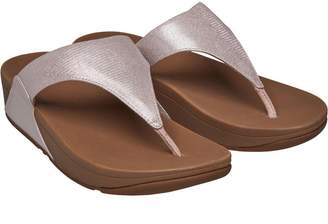 b98eb15b8941b FitFlop Womens Lulu Toe Post Shimmerlizard Sandals Nude