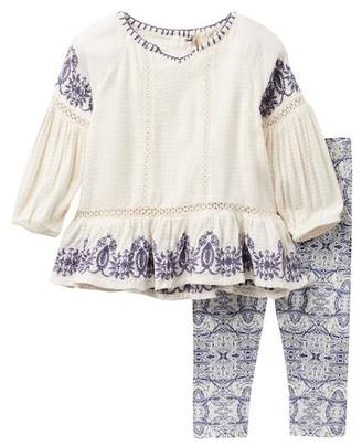 Jessica Simpson Embroidered Top & Leggings Set (Baby Girls)