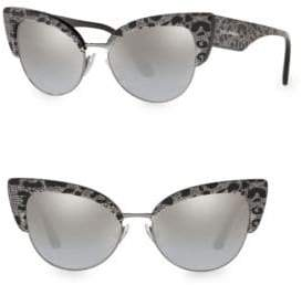 Dolce & Gabbana 53MM Cat Eye Leopard Sunglasses