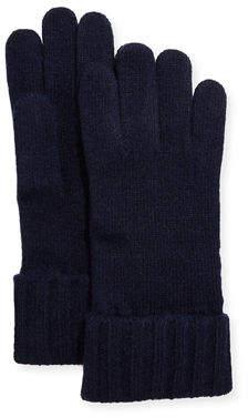 Portolano Cashmere Jersey Gloves w/ Ribbed Cuffs
