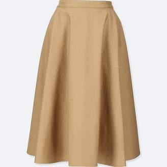 Uniqlo Women's Cotton High-waist Circular Skirt
