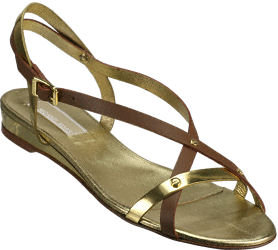 Michael Kors Bayou Tan/Gold Leather