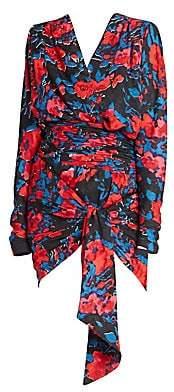 Saint Laurent Women's Floral Print Jacquard Mini Dress